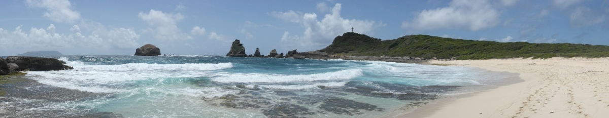 Panorama am Pointe des Chateaux auf Guadeloupe (Alexander Mirschel)  Copyright  License Information available under 'Proof of Image Sources'