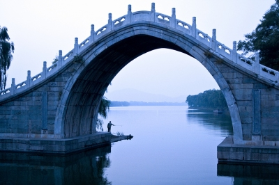 Fishing at Jade Belt Bridge, Summer Palace, Beijing (Dimitry B.)  [flickr.com]  CC BY  License Information available under 'Proof of Image Sources'