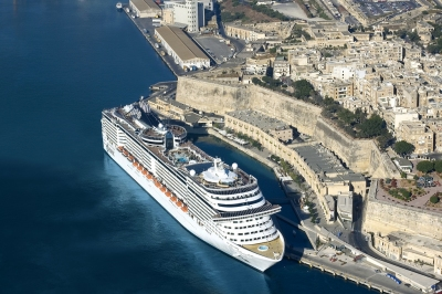 MSC Splendida in Malta (Roderick Eime)  [flickr.com]  CC BY  License Information available under 'Proof of Image Sources'