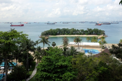 Siloso Beach and Southern sea of Singapore (Jnzl's Public Domain Photos)  [flickr.com]