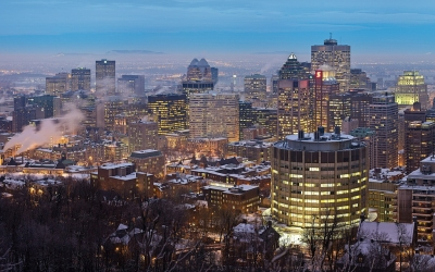 Skyline - Montreal, Quebec, Canada at Twilight (Jim Trodel)  [flickr.com]  CC BY-SA  License Information available under 'Proof of Image Sources'