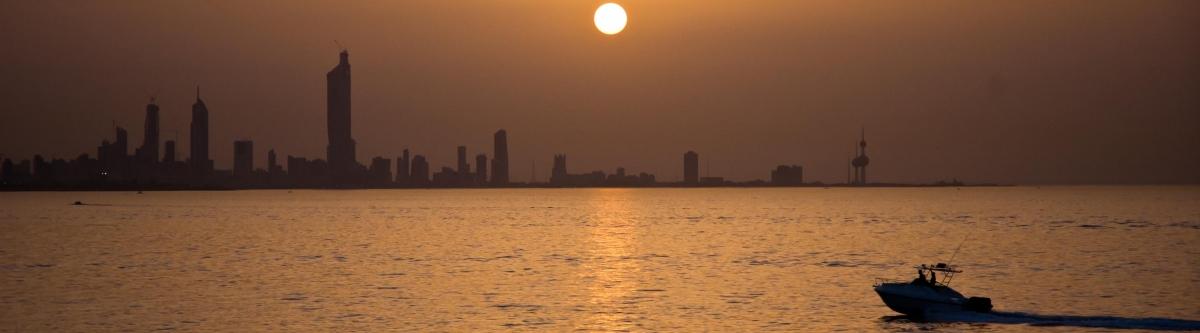 Sunset over Kuwait City (Jack Versloot)  [flickr.com]  CC BY  License Information available under 'Proof of Image Sources'